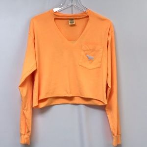 Victoria's Secret Pink Orange Crop Long Sleeve #
